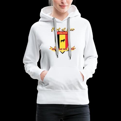 belgique foot coupe du monde - Sweat-shirt à capuche Premium pour femmes