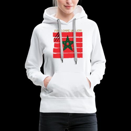 maroc - Sweat-shirt à capuche Premium pour femmes