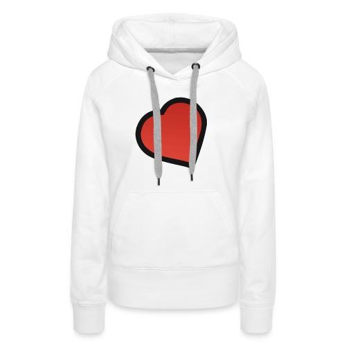 heart - Dame Premium hættetrøje