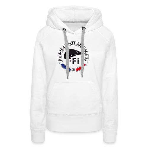 FFi beret NOIR - Sweat-shirt à capuche Premium pour femmes