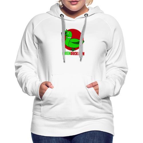 Greenduck Film Red Sun Logo - Dame Premium hættetrøje