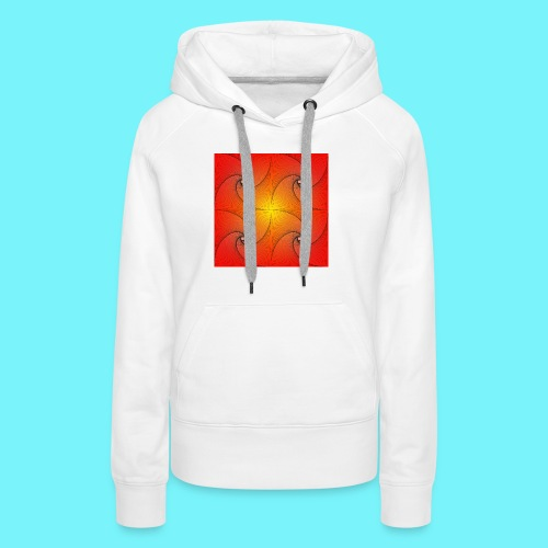 Pursuit curve in red and yellow - Women's Premium Hoodie