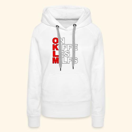 OKLM - Sweat-shirt à capuche Premium pour femmes