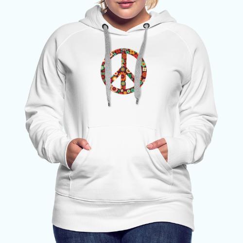 Flowers children - peace - Women's Premium Hoodie