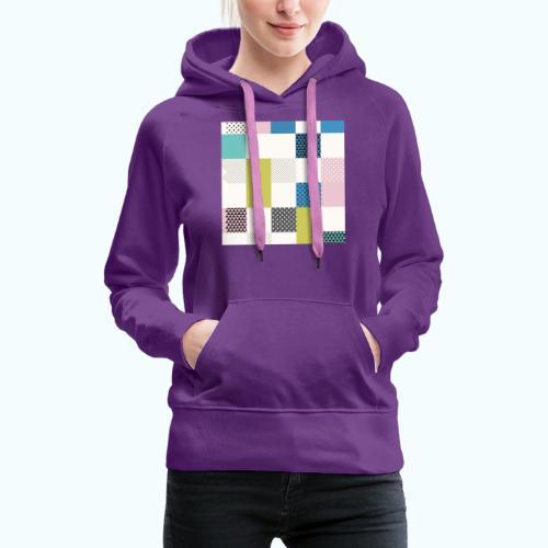 Abstract art squares - Women's Premium Hoodie