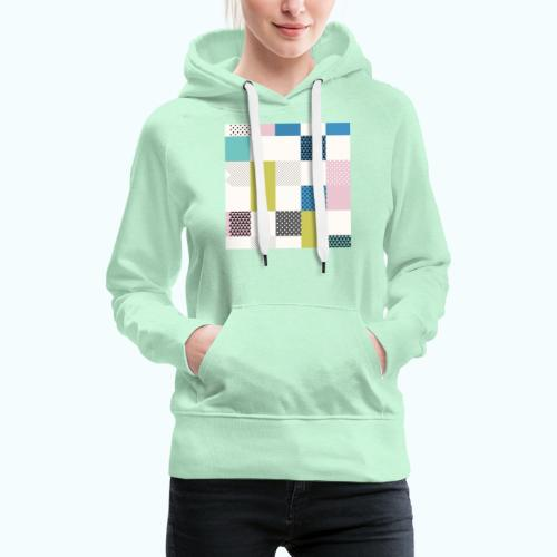 Abstract art squares - Women's Premium Hoodie