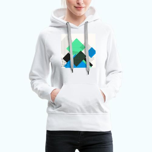 Abstract rectangles pastel - Women's Premium Hoodie