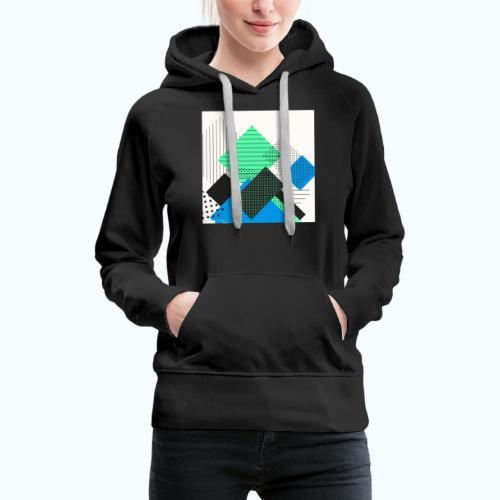Abstract rectangles pastel - Women's Premium Hoodie