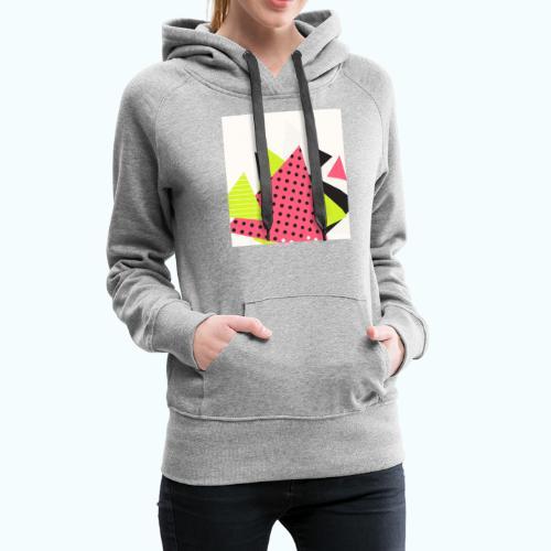 Neon geometry shapes - Women's Premium Hoodie