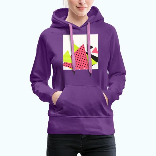 Neon geometry shapes - Women's Premium Hoodie