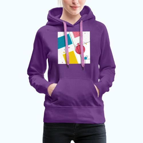 Colors shapes abstract - Women's Premium Hoodie