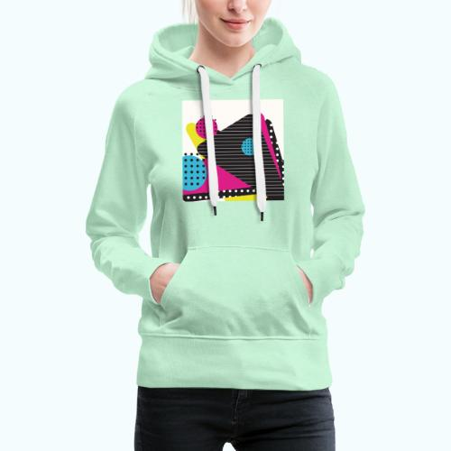 Abstract vintage shapes pink - Women's Premium Hoodie