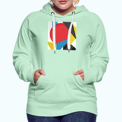 Geometry collage Abstract colors - Women's Premium Hoodie