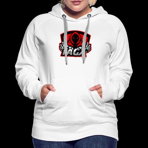 TagX Logo with red borders - Naisten premium-huppari