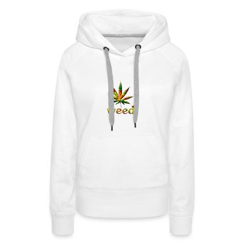 marijuana leaf - Frauen Premium Hoodie