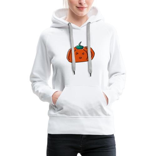 Citrouille Joyeuse - Sweat-shirt à capuche Premium pour femmes