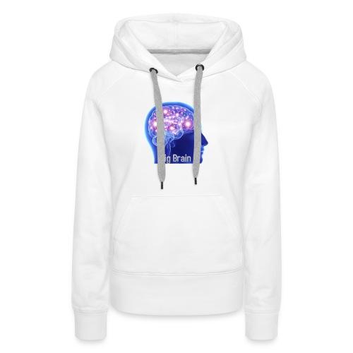 Big brain - Dame Premium hættetrøje