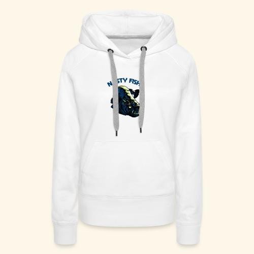 Poissons méchants - Barramundi - Sweat-shirt à capuche Premium pour femmes