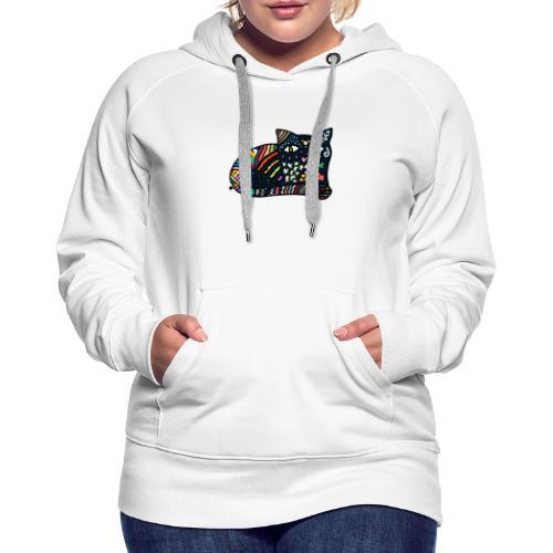 Chat Onirique - Sweat-shirt à capuche Premium pour femmes