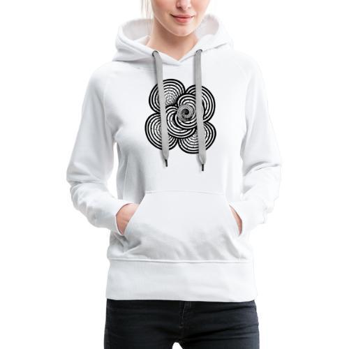 white and black - abstrakt, neutral, handgemalt - Frauen Premium Hoodie