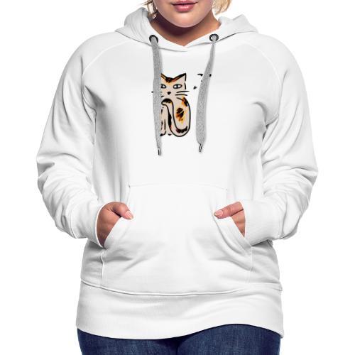 Chat Sournois - Sweat-shirt à capuche Premium pour femmes