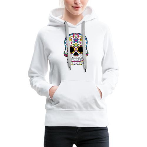 skull7 - Felpa con cappuccio premium da donna