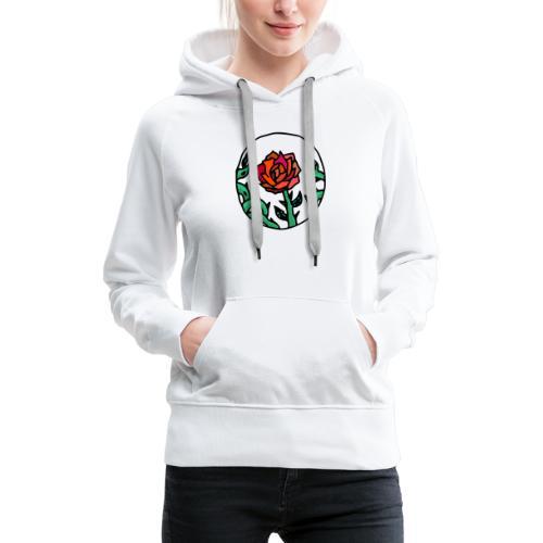Camée Rose - Sweat-shirt à capuche Premium pour femmes