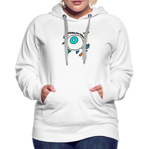 Oeil Punkodylate - Sweat-shirt à capuche Premium pour femmes