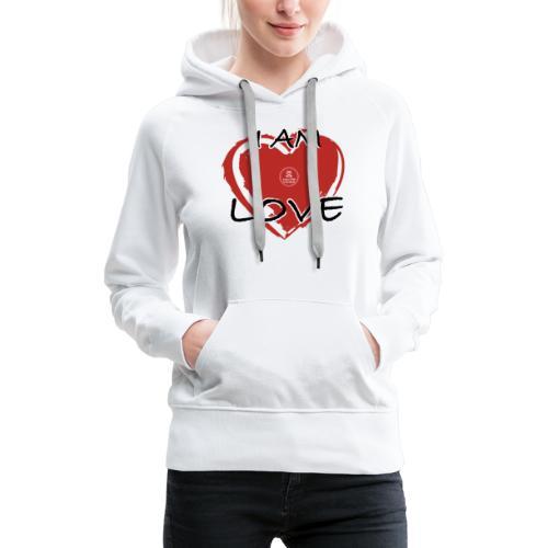 IM LOVE MaitriYoga - Sweat-shirt à capuche Premium pour femmes