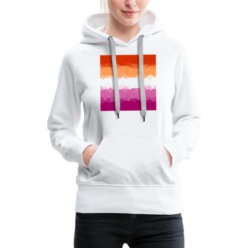 Lesben Flagge Mosaik - Frauen Premium Hoodie