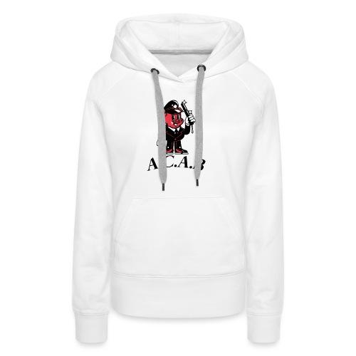 A.C.A.B cochon - Sweat-shirt à capuche Premium pour femmes