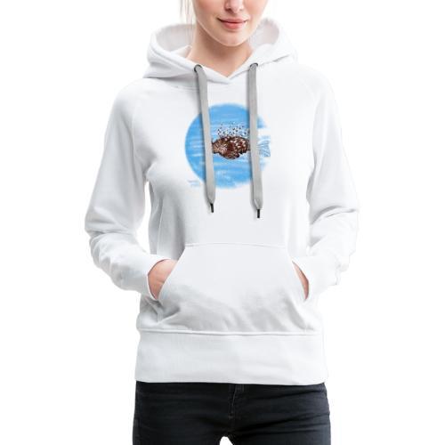 Poisson zèbre - Sweat-shirt à capuche Premium pour femmes