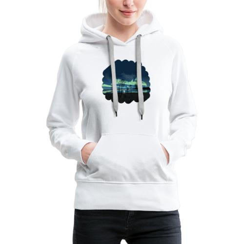 Reflet des aurores boréales - Sweat-shirt à capuche Premium pour femmes