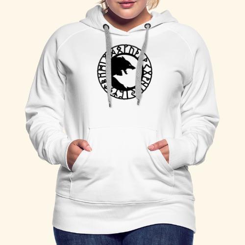 loup_runes_flocage - Sweat-shirt à capuche Premium pour femmes
