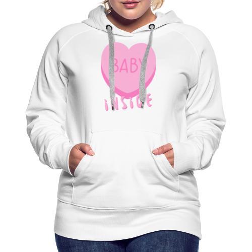 Baby Inside Pink Heart - Frauen Premium Hoodie