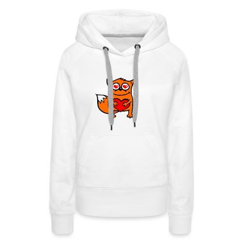 verliebter Fuchs - Herz rot T-Shirts - Frauen Premium Hoodie