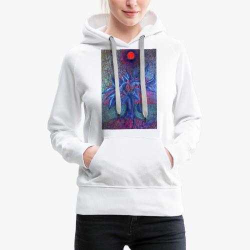DrzewoKwiat - Bluza damska Premium z kapturem