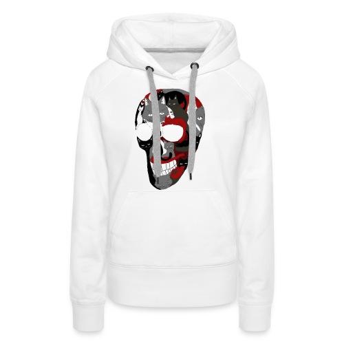 Crâne of the cat - Sweat-shirt à capuche Premium pour femmes