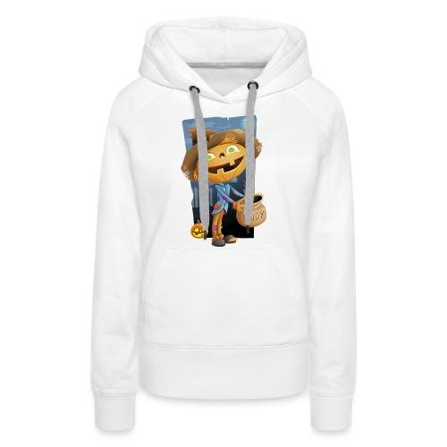 Halloween Citrouille et Friandises - Sweat-shirt à capuche Premium pour femmes