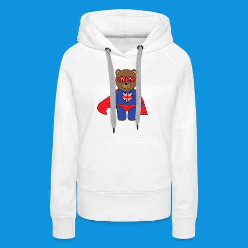 British Hero Bear tank - Women's Premium Hoodie