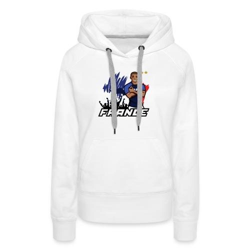 tee shirt france mbappé - Sweat-shirt à capuche Premium pour femmes