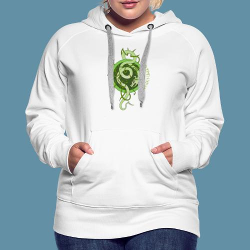 Jormungand logo png - Felpa con cappuccio premium da donna