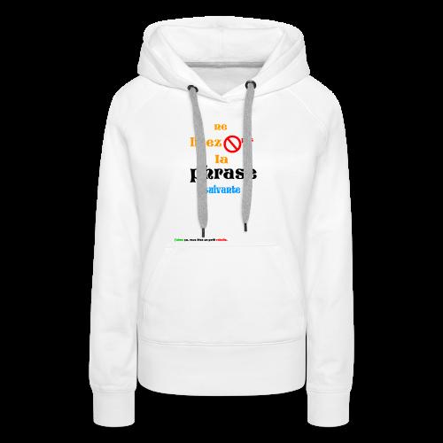 cool_swag - Sweat-shirt à capuche Premium pour femmes