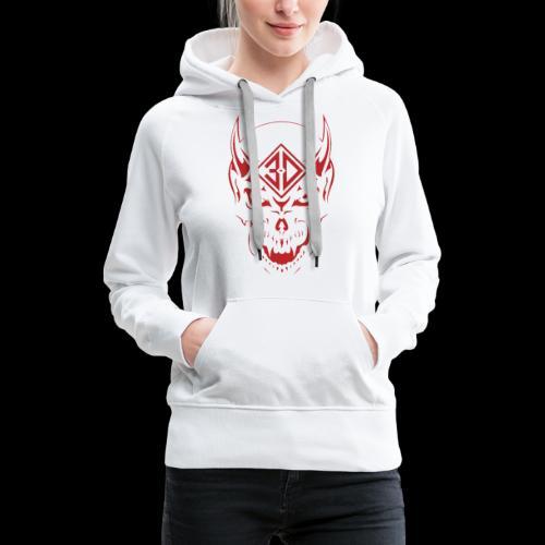 devil skull red - Sweat-shirt à capuche Premium pour femmes