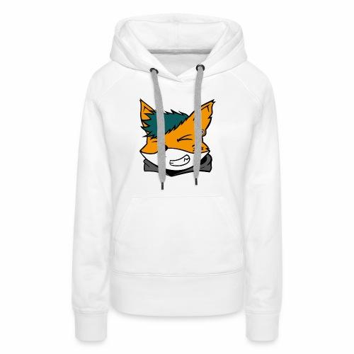 Le petit Fox [LOGO PERSONNALISABLE] - Sweat-shirt à capuche Premium pour femmes