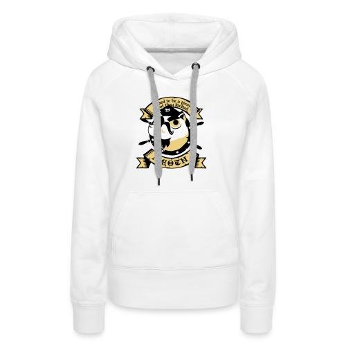 Katze Pirat Spruch - Frauen Premium Hoodie