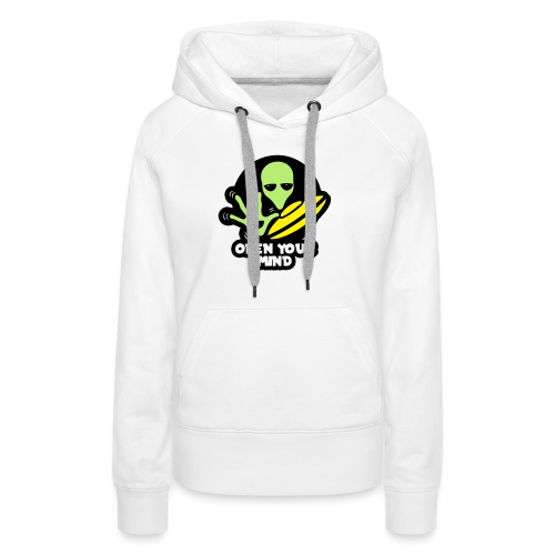 Alien Open your mind - Women's Premium Hoodie