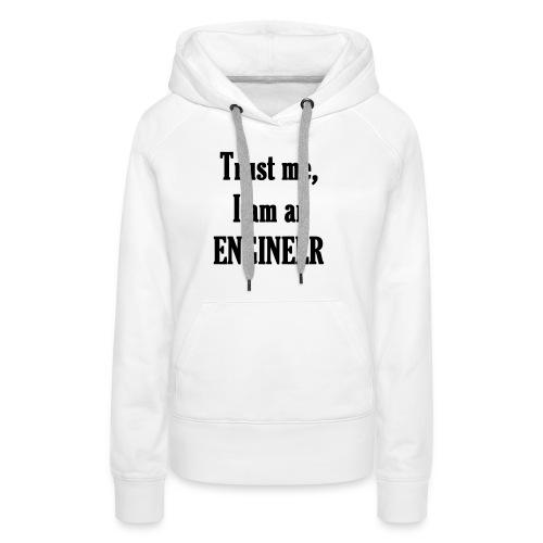 engineer / ingénieur - Sweat-shirt à capuche Premium pour femmes