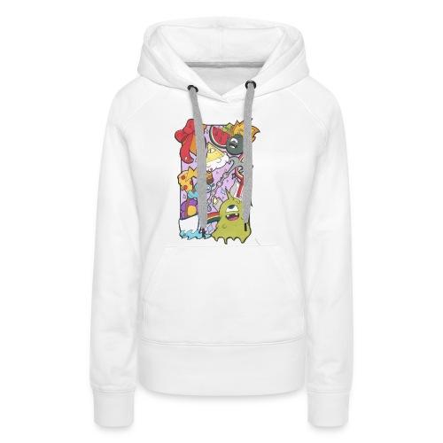 bobby land - Sweat-shirt à capuche Premium pour femmes