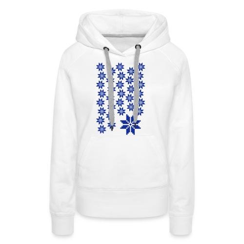 33 Schneeflocken Norweger Muster - Frauen Premium Hoodie